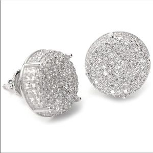 Men's Full Iced Out Cubic Zirconia Earring